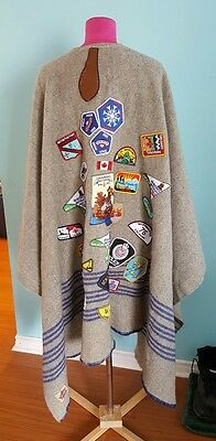 Boy Scouts Vintage Camp Blanket Campfire Poncho Canadian