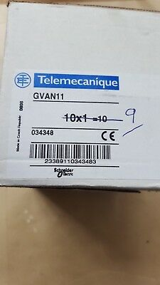 Lot Of 9 Telemecanique Gvan11 Contact Block (R4S12.3B2)