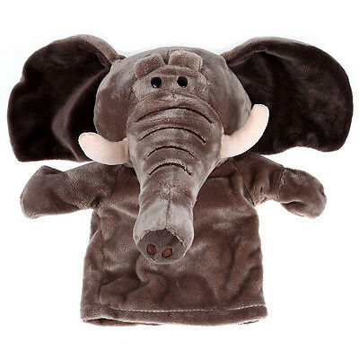 Plush Velour Animals Hand Puppets Kid Child Learning Aid Toy Elephant T8Y8