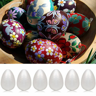 40mm to 120mm Polystyrene Eggs Kids Crafts Easter Modelling