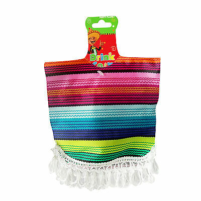 Poncho Drink Cosy Party Decoration Mexican Fiesta Spanish