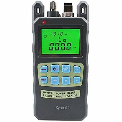 Egomall-70~+10dBm Portable Battery-Operated Fiber Optic Cable Power Meter Tester