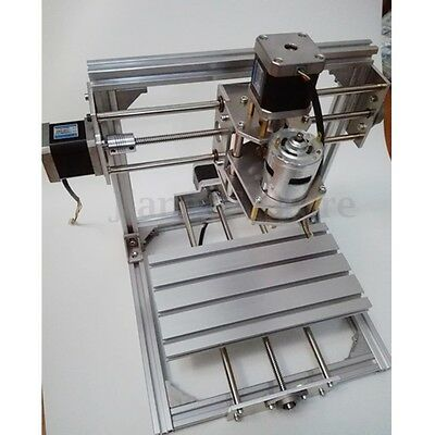 3 Axis CNC Engraver Machine PCB Milling Cutting Wood Carving Router Kit 20x20cm