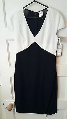 navy blue and white smart dress size 6/8