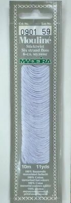 MADEIRA Mouline Stranded Cotton Embroidery Floss 10m Colour 0901