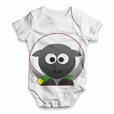 Twisted Envy Cute Sheep Baby Unisex Funny ALL-OVER PRINT Baby Grow Bodysuit