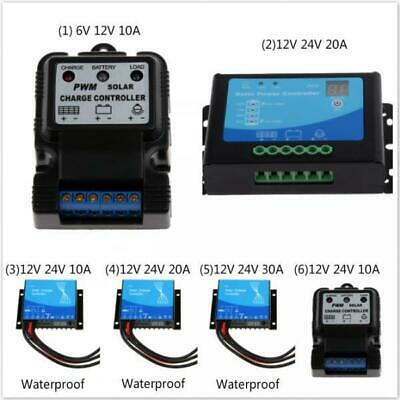 6V/12V Or 12V/24V Digital Solar Panel Battery Regulator Charge Controller Auto