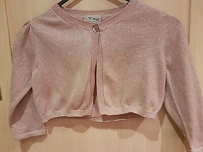 girls next pink shrug 7-8 years