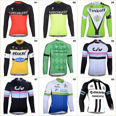 2017 Style Bicycle Team Road Bike Clothing Jerseys Long Sleeve Tops Riding Shirt
