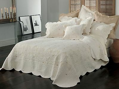 Bianca Chardae Cream Bedspread Set in All Sizes