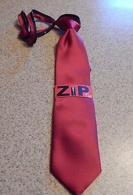 Van Heusen Boys Zip Red Neck Tie New