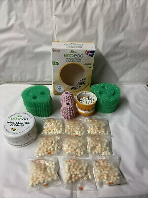 Two EcoEggs  720 spring blossom & Ocean Breeze +(whitener) 270ML  Stain Remover