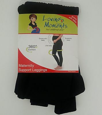 Loving Moments Leading Lady Maternity Support Legging Pants Back Support L XL