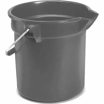Rubbermaid Commercial FG296300GRAY Brute HDPE Heavy-Duty Bucket, 10-quart, Gray