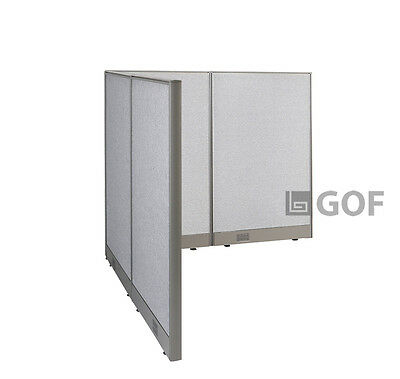 GOF L-Shaped Freestanding Partition 60D x 60W x 48H / Office, Room Divider