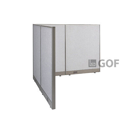 GOF L-Shaped Freestanding Partition 60D x 66W x 48H / Office, Room Divider