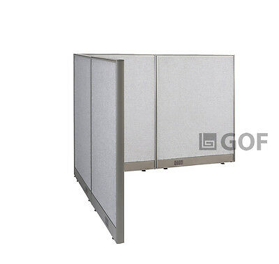 GOF L-Shaped Freestanding Partition 60D x 72W x 48H / Office, Room Divider