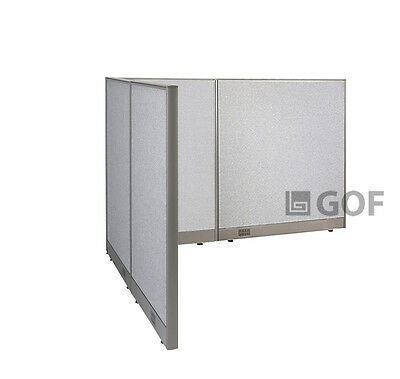 GOF L-Shaped Freestanding Partition 60D x 78W x 48H / Office, Room Divider