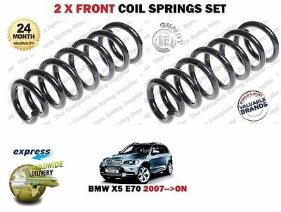 FOR BMW E70 4.8 355bhp 3.0D 286bhp XDRIVE 2007--> 2 X FRONT AXLE COIL SPRING SET