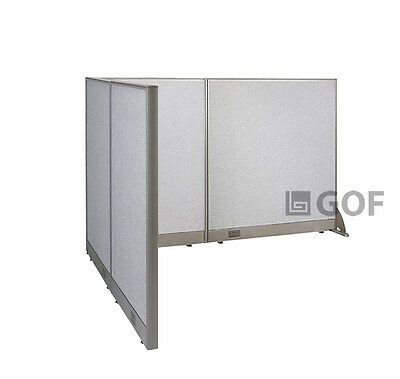 GOF L-Shaped Freestanding Partition 60D x 84W x 48H / Office, Room Divider