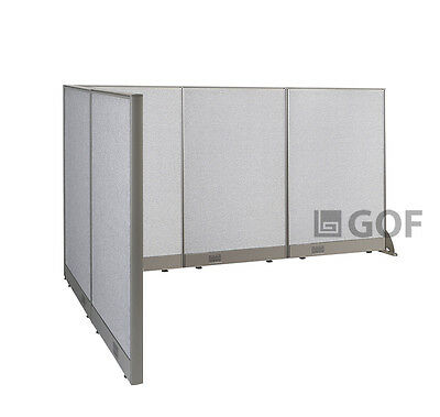GOF L-Shaped Freestanding Partition 60D x 90W x 48H / Office, Room Divider