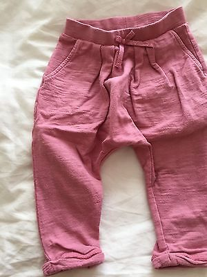 Next - baby girls pull on Trousers - Pink - 6/9 months