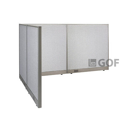 GOF L-Shaped Freestanding Partition 60D x 96W x 48H / Office, Room Divider