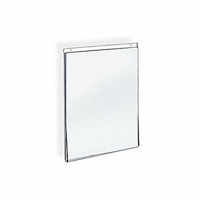 "Azar Acrylic Vertical Wall Mount Sign Holder, 11""H x 8.5""W, 10/Pack (162714)"
