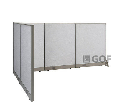 GOF L-Shaped Freestanding Partition 60D x 102W x 48H / Office, Room Divider