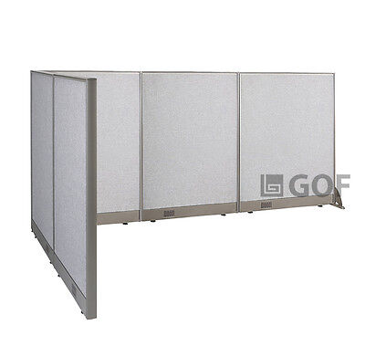 GOF L-Shaped Freestanding Partition 60D x 108W x 48H / Office, Room Divider
