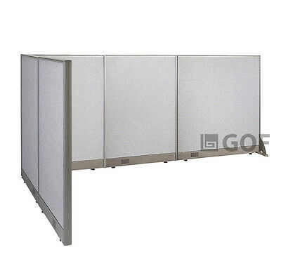 GOF L-Shaped Freestanding Partition 60D x 120W x 48H / Office, Room Divider