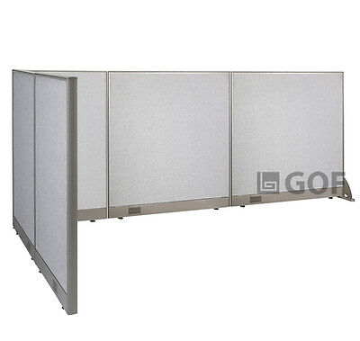 GOF L-Shaped Freestanding Partition 60D x 126W x 48H / Office, Room Divider