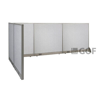 GOF L-Shaped Freestanding Partition 60D x 132W x 48H / Office, Room Divider