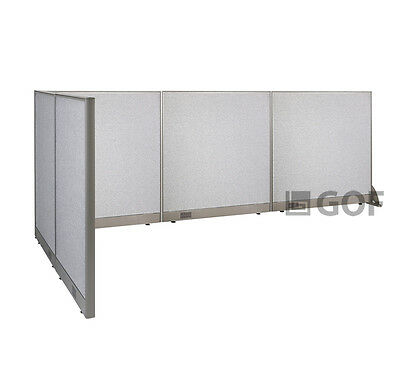 GOF L-Shaped Freestanding Partition 60D x 144W x 48H / Office, Room Divider