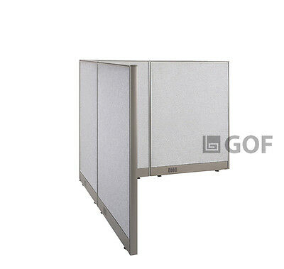 GOF L-Shaped Freestanding Partition 66D x 66W x 48H / Office, Room Divider