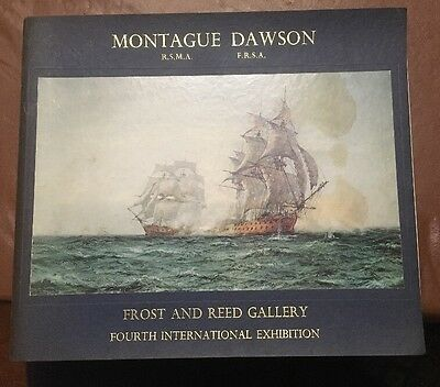 Maritime Artist MONTAGUE DAWSON Catalog ca 1970 Frost & Reed Clippers Mayflower