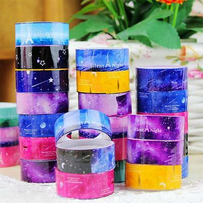10PCS/Set Craft 1.5cm*2m Starry Sky DIY Tape Adhesive Decorative Sticker