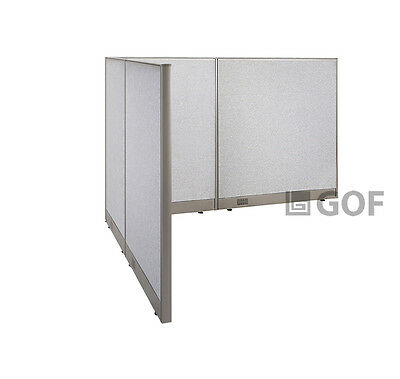 GOF L-Shaped Freestanding Partition 66D x 84W x 48H / Office, Room Divider