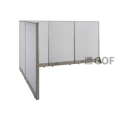 GOF L-Shaped Freestanding Partition 66D x 90W x 48H / Office, Room Divider