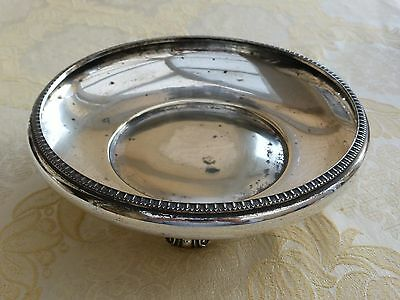 Art Deco Silver Plated Footed Bowl With Gadroon Rim    #040417145/150