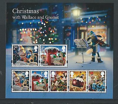 Great Britain 2010 Christmas Wallace And Gromit Miniature Sheet Fine Used
