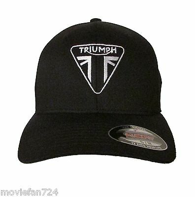 Triumph Motorcycle Logo Embroidered Baseball Hat - Cap NEW