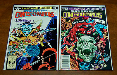 Contest of the Champions #2, #3 Marvel's 1st Mini-series VF+ Condition White pgs