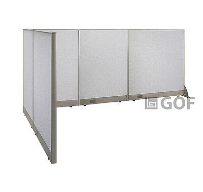 GOF L-Shaped Freestanding Partition 66D x 120W x 48H / Office, Room Divider