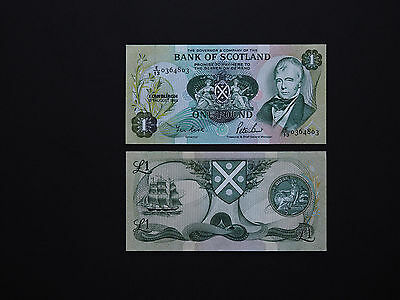 SCOTLAND BANKNOTES  ONE POUND  p111  -  Superb note with great detail   MINT UNC