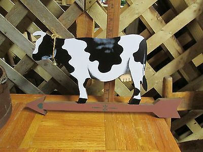 Cow Wall Hanger Country Decor Black & White