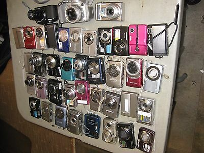 Digital Cameras Lot Of 40 Pieces ==Parts Or Repair Only==