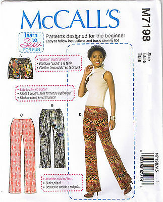 Easy Stretch Knit Elastic Waist Pants Shorts Sewing Pattern Plus 14