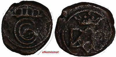 India-Danish,Tranquebar  Christian VI (1730-1746 ) Copper Cash 0,96 g. KM# 132
