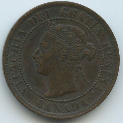 1899 Canada Large One Cent Queen Victoria good (J500)